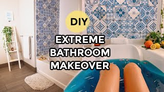 EASY DIY BATHROOM TRANSFORMATION! Amazon Home Decor Ideas