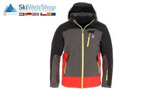 Spyder, Flywheel, ski-jas, heren, polar grijs/volcano rood/zwart