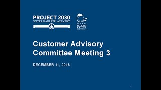 December 11, 2018 Customer Advisory Committee Meeting