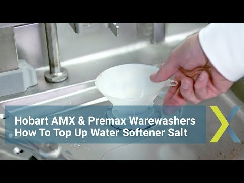 Hobart AMX & Premax Warewashers: How To Top Up Water Softener Salt