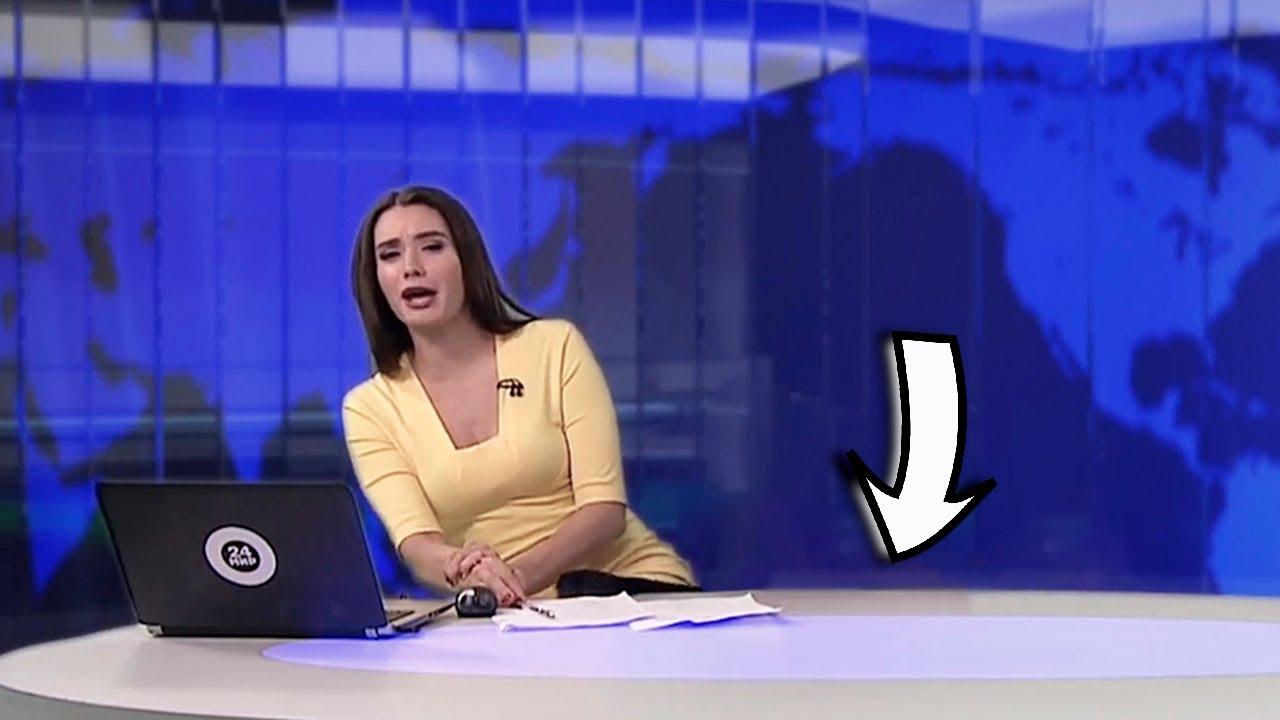 Неожиданно -  что под столом у телеведущей?