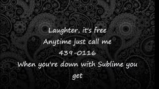 Sublime   Don't Push (lyrics)