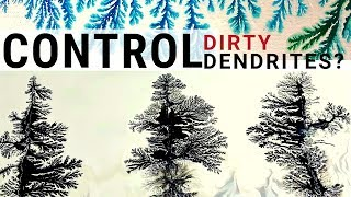 FRACTAL ART - How To Make LARGE TREES By Controlling DIRTY DENDRITES - Fluid Art Techniques