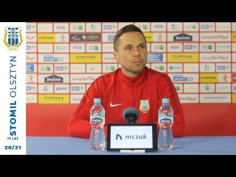 Piotr Klepczarek przed meczem Stomil Olsztyn - Chrobry Głogów