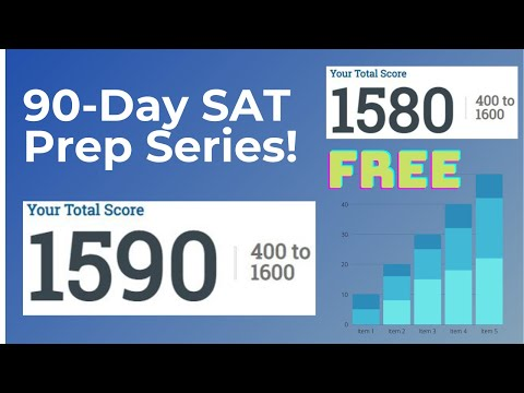 Free 90-Days of SAT Prep Lessons - Day 1 of 90!!! By a 1590 SAT Scorer!!! Free Tutoring For The SAT!