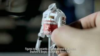 Santander Lewis Hamilton Airfix advert