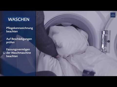 Waschanleitung: SEIDENDECKE richtig waschen und trocknen.