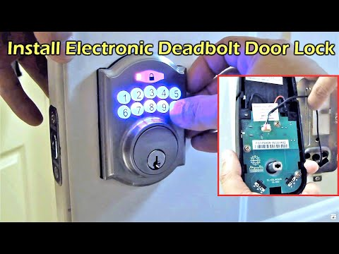 Electronic Deadbolt Door Lock Install – Defiant