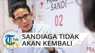 Sandiaga Uno Tidak Kembali Jabat Wagub DKI Jakarta