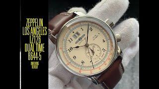 Zeppelin Los Angeles LZ126 Dual Time Quartz 8644-5 Watch | Unboxing e Review | Valjoux Relogios