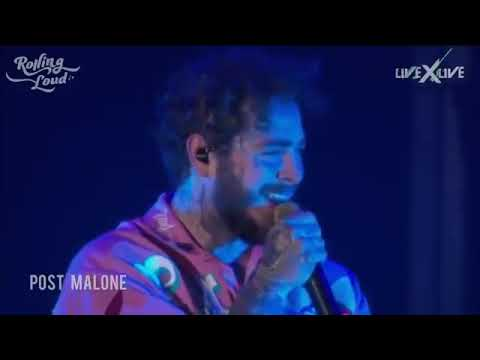Sunflower , Spoil my night /  Post Malone with Swae Lee(Live at Rolling Loud LA , 2018) #Spiderman