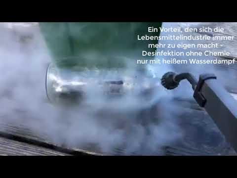 Dampfreiniger Flaschen reinigen desinfizieren
