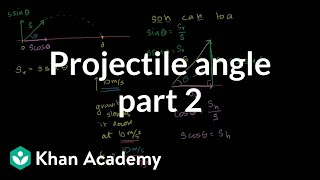 Optimal angle for a projectile part 2 - Hangtime