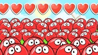 КРАСНЫЙ ШАРИК 4 ЗОМБИ ПОДЗЕМНЫЕ ХОДЫ мультик игра для детей RED BALL 4 Volume 5 INTO THE CAVE