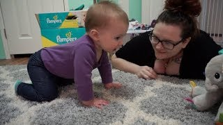 Teaching Our 8 Month Old How to Crawl