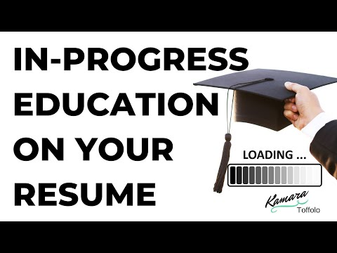 HOW TO LIST EDUCATION IN PROGRESS ON RESUME WITH ...
