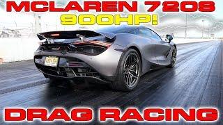 900HP McLaren 720S sets new 1/4 Mile Drag Racing Record for quickest McLaren
