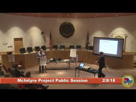 McIntyre Project Public Session 2.8.2018 Part 2