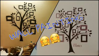 Wall Painting DIY | Stencil Art Design | Wall Painting| Family Tree | KV The Wanderer