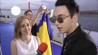 Interview with MELOVIN from Ukraine @ Eurovision Blue carpet in Lisbon 2018