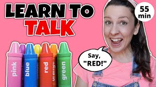 Learn To Talk - Toddler Learning Video - Learn Colors with Crayon Surprises -  Speech Delay - Baby
