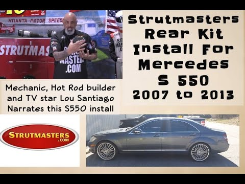 2007-2012 Mercedes S 550 Rear Strut Conversion Installation