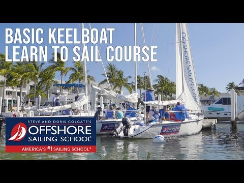 Basic Keelboat Learn to Sail Course Highlights - YouTube