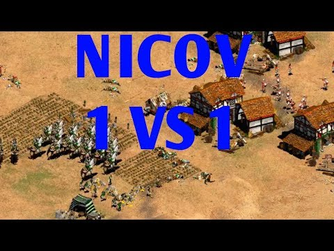 NICOV EN 1 VS 1 VS LA ELITE DE CHINA AGE OF EMPIRES 2