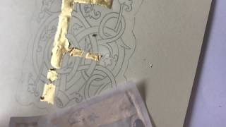 Painting And Applying Gold Leaf To An Illuminated Letter