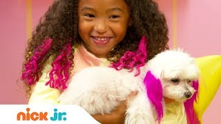 How to Create a Majesty Top Poof Hairstyle Tutorial  🐩| Sunny Day's Style Files | Nick Jr.