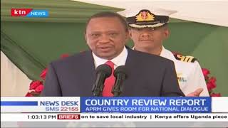 President Uhuru Kenyatta has launched the second country  review report at Statehouse Nairobi