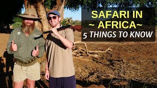 5 Things to Know Before Booking a SAFARI in AFRICA