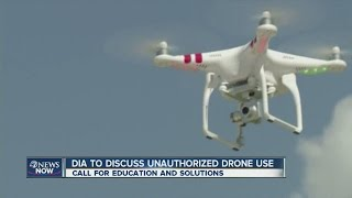 Drones flying too close to Denver International Airport