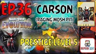 ANGRY BIRDS EVOLUTION - PRESTIGE LEVEL 5 - CARSON(RAGING MOSH PIT) - 4 STARS PREMIUM EGG - Black