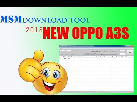 oppo a3s flashing and remove pattern with qfil without id