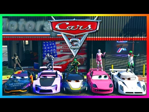 GTA ONLINE PIXAR: CARS 3 MOVIE SPECIAL - GTA 5 LIGHTNING MCQUEEN, VEHICLES IN CARS 3 MOVIE & MORE!
