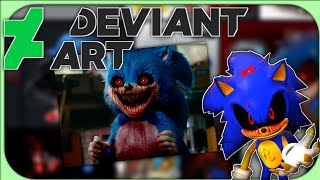 SONIC EXE GOES ON DEVIANT ART