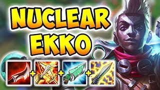 DIVE BOMBER EKKO MID! 100% INSTANT ONE-SHOT CARRIES WITH E (DEADLY) - League of Legends