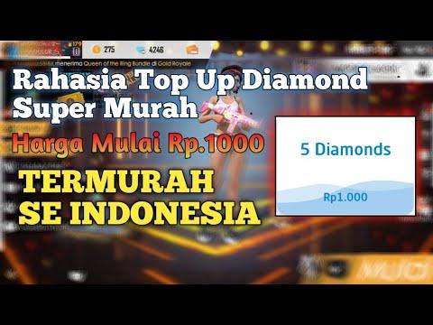 HANYA 1000! Begini Cara Beli Diamond Free Fire Super Murah Se Indonesia