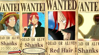 SHANKS' Evolution BOUNTY From The Start Until The End Of One Piece - Chapter 930+