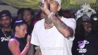 Chris Brown 'Make Love' & 'Wet The Bed' Live in Miami