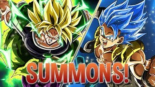 100 FREE STONES! LET'S GO! Broly And Blue Gogeta Summons! Dragon Ball Z Dokkan Battle