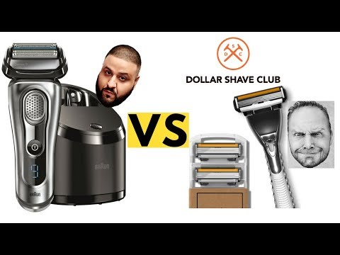 Razor versus Electric Shaver- Dollar Shave Club and Braun Review and Comparison