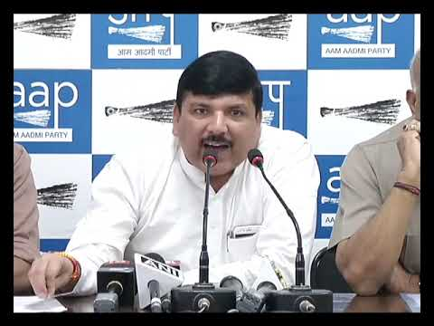 Senior AAP Leader Sanjay Singh and ND Gupta Addressed on Modi Govt Assault on CBI