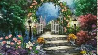 Anime. Cartoon. Walk in a beautiful park. Мультфильм .Прогулка в прекрасном парке.