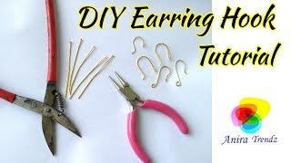 How to make earring hooks at home using Head Pin / Eye Pin DIY Tutorial