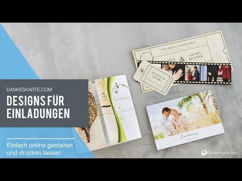 Hochzeitseinladungen - Einladungskarten für die Hochzeit - Dankeskarte.com