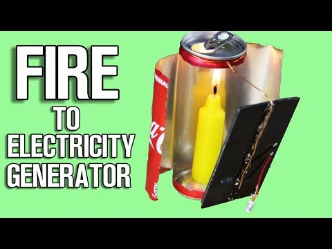 Fire to Electricity Generator – DIY Life Hack