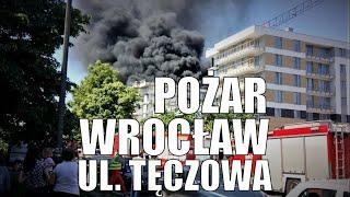 #Wrocław: POŻAR NA TĘCZOWEJ, VIDEO