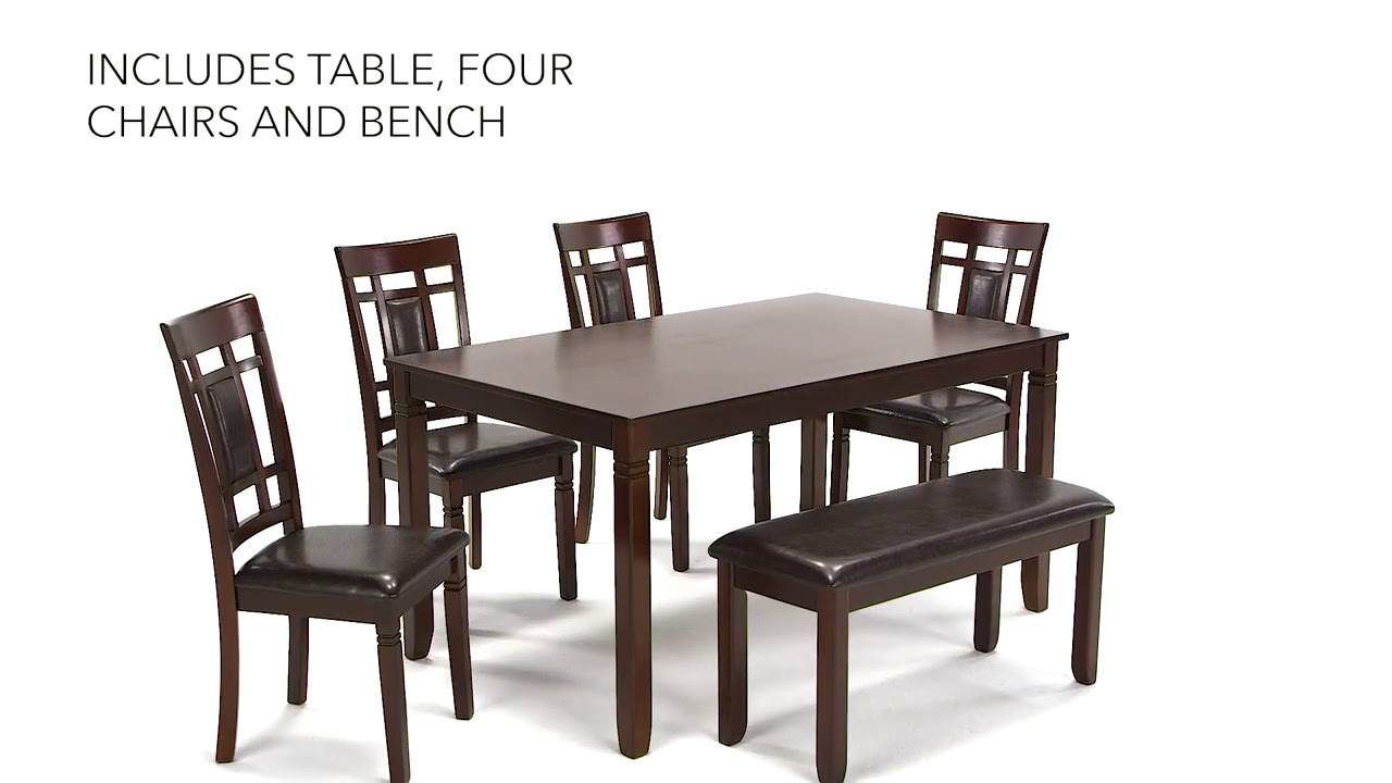 Bennox Brown 6 Piece Rectangular Dining Room Set